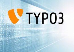TYPO3 Logo vor hellem Hintergrund.
