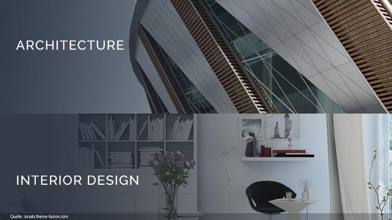 Besondere Gebäudedesigns in Sektionen seriell dargestellt.