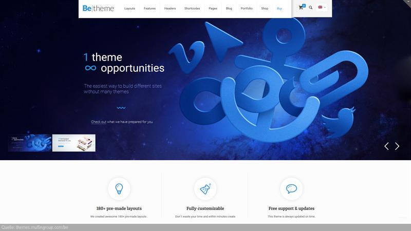 Design Templates für diverse Branchen