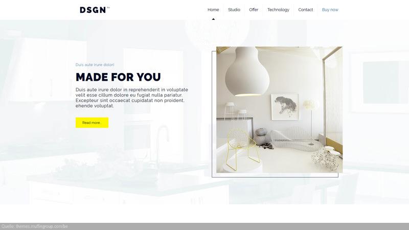 Design Template Möbel
