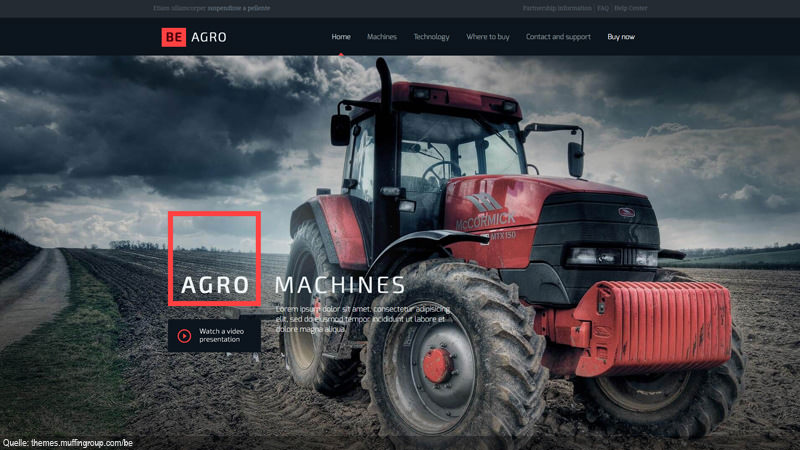 Design Template Landwirtschaft