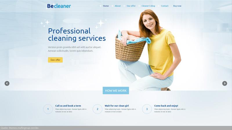Design Template Wäscherei/ Reinigung/ Pflege
