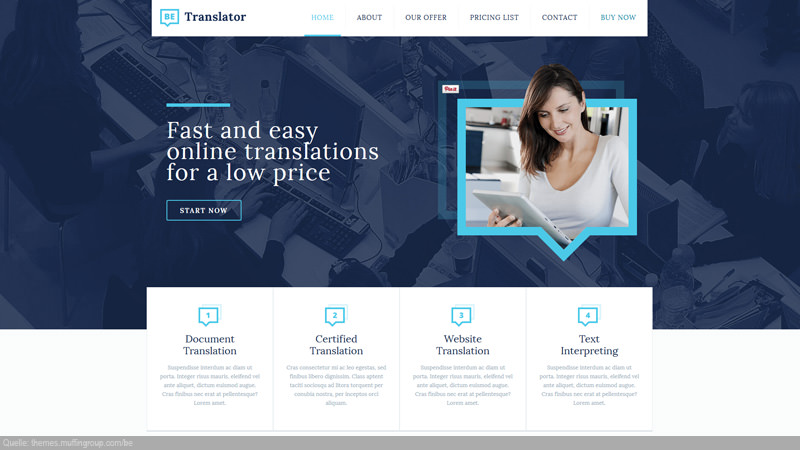 Design Template Sprachen/ Translation