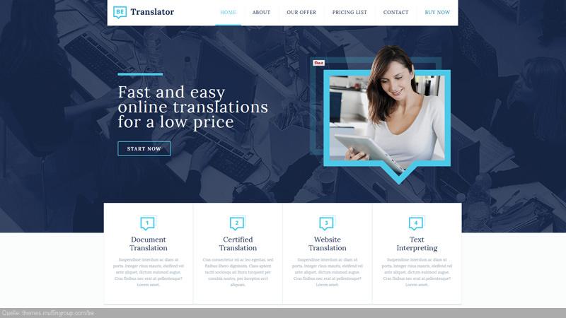 Design Template Sprachen/ Translation