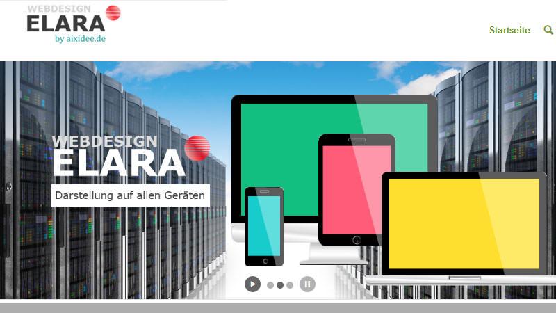 Adaptive Darstellung von Webseiten in farbenfroher Animation