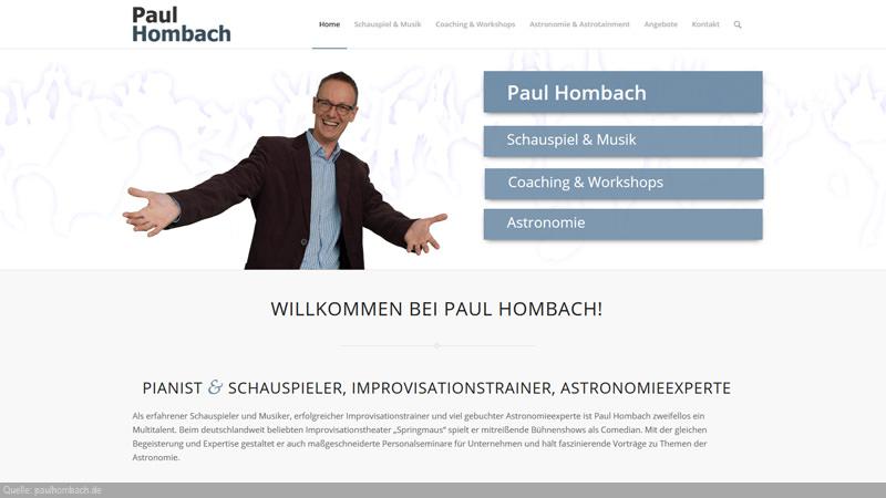 Paul Hombach mit offenen Armen lädt zu seien Künsten und Kompetenzen ein.