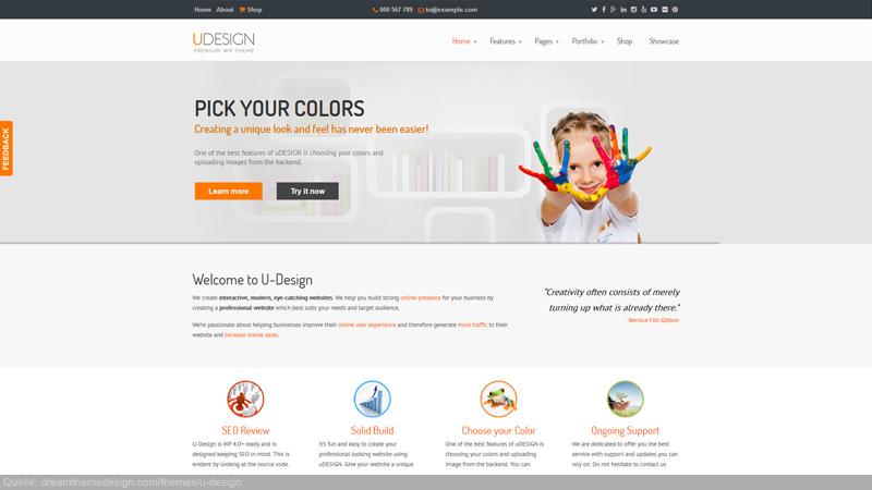 Udesign Home-/Startpage, Landingpage Beispiel!