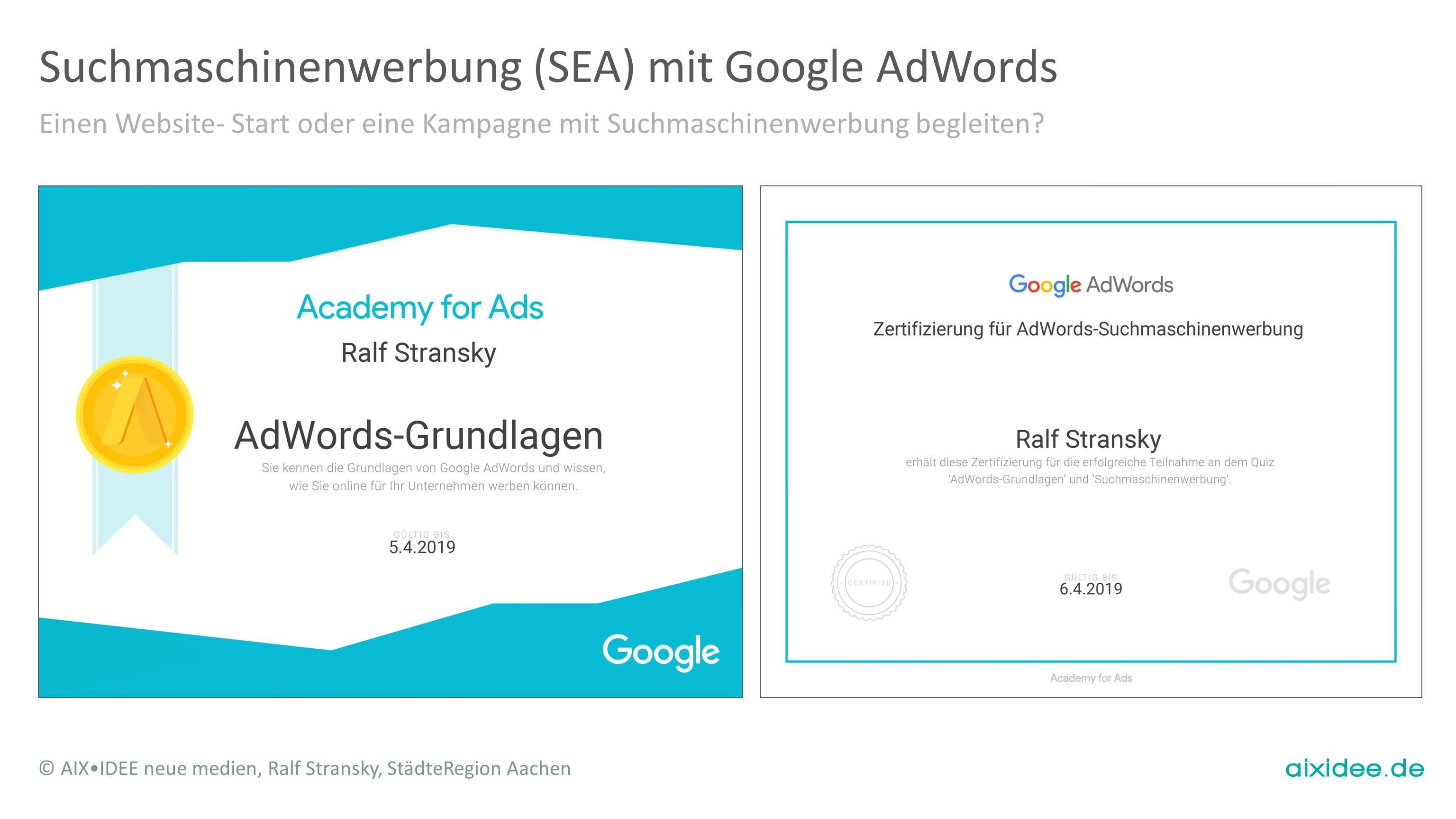 Einen Website- Start oder eine Kampagne mit Suchmaschinenwerbung begleiten?